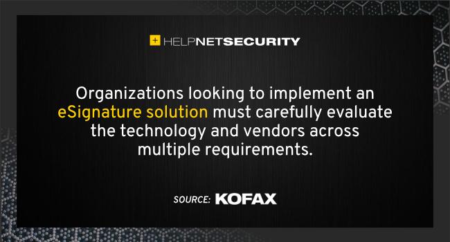 eSignature solutions