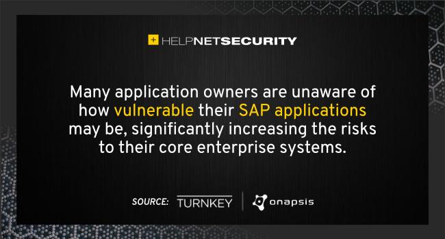 SAP applications vulnerable